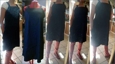 Robe à bretelles bleue marine 2