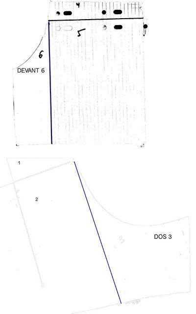 Patron de short 1 pli, poches dans la couture T42 gratuit