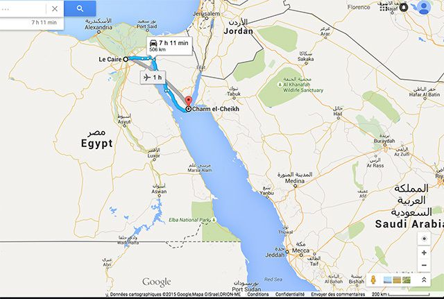 La mer rouge à Sharm El Sheik