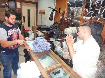 Une mercerie très spécialisée au Caire
