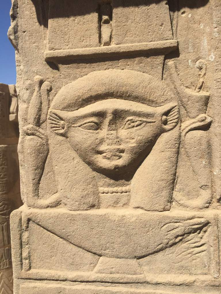 Hathor temple chapelle, so near to Isis temple in Philae Aswan