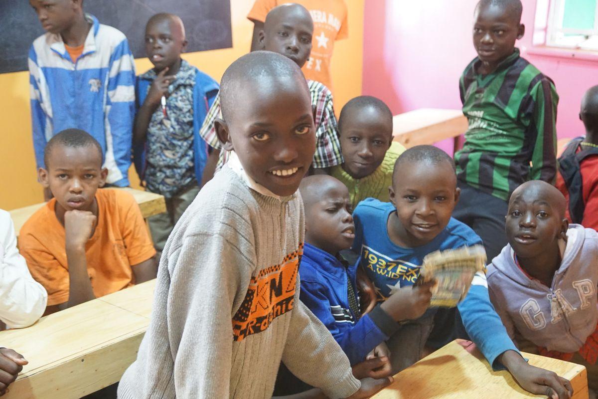 Children at the Raha Kids Center -Les enfants du centre Raha Kids