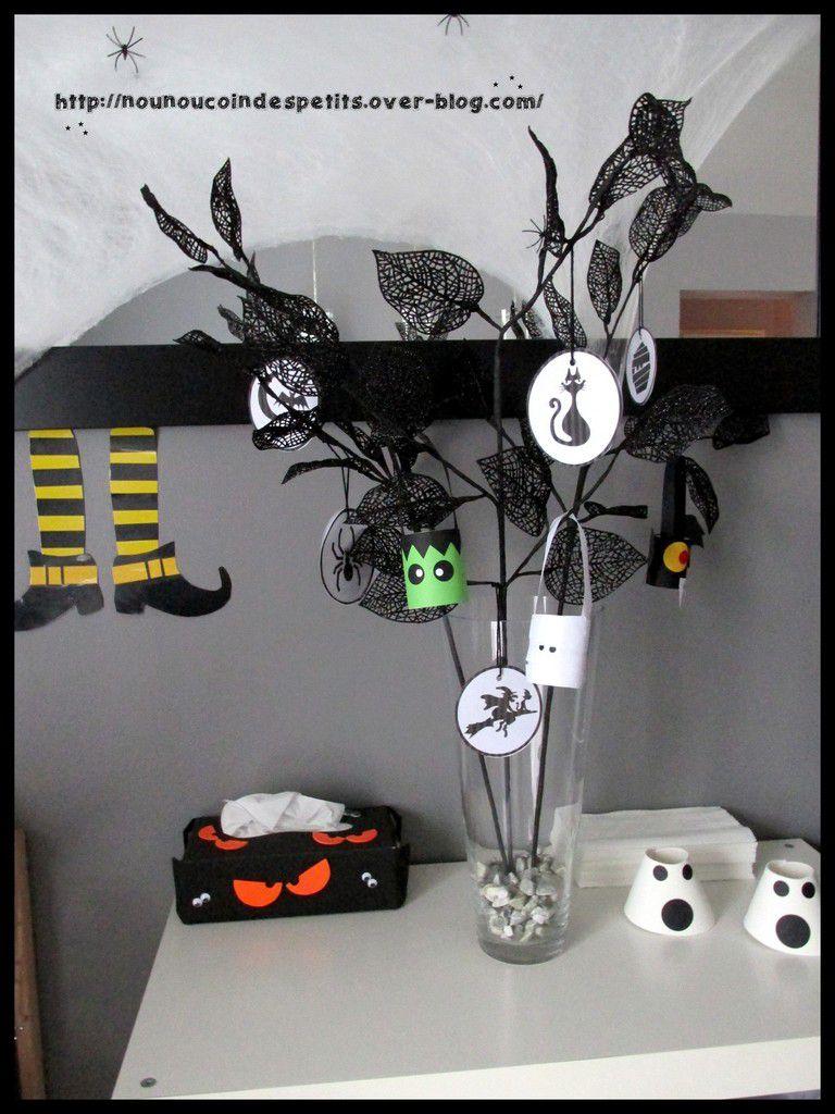 .. thème halloween .. &quot&#x3B; déco mural château fantôme &quot&#x3B;