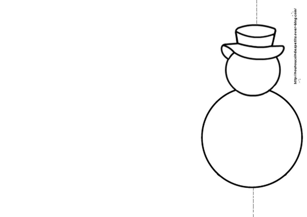 Hiver carte bonhomme de neige le blog de nounoucoindespetits - Modele bonhomme de neige ...