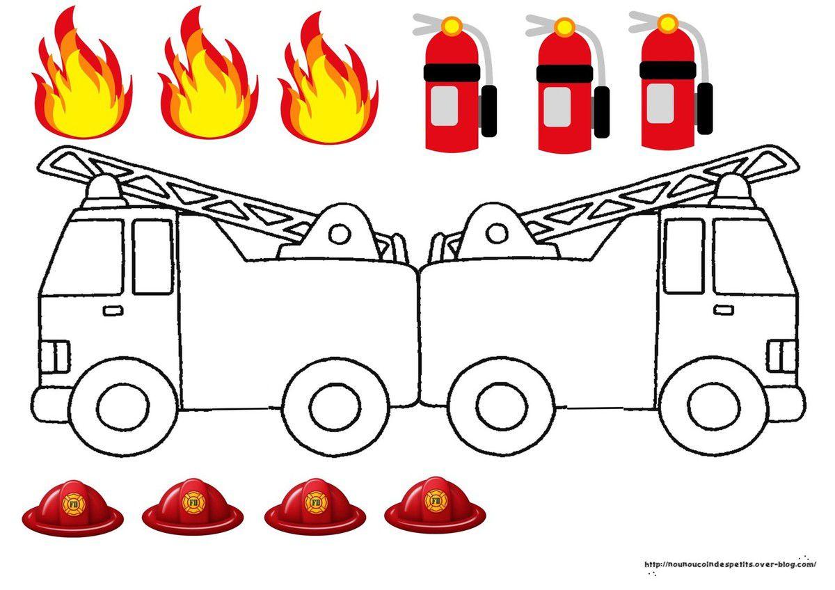 .. Carte camion de pompiers ..