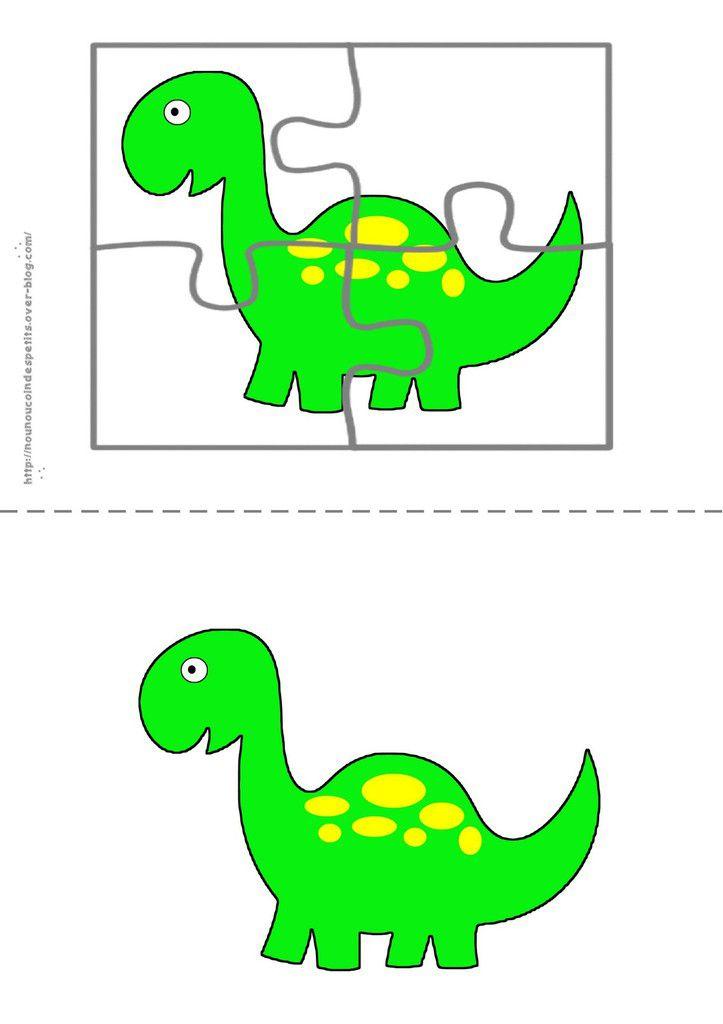 .. Puzzle .. &quot&#x3B; le dinosaure &quot&#x3B;