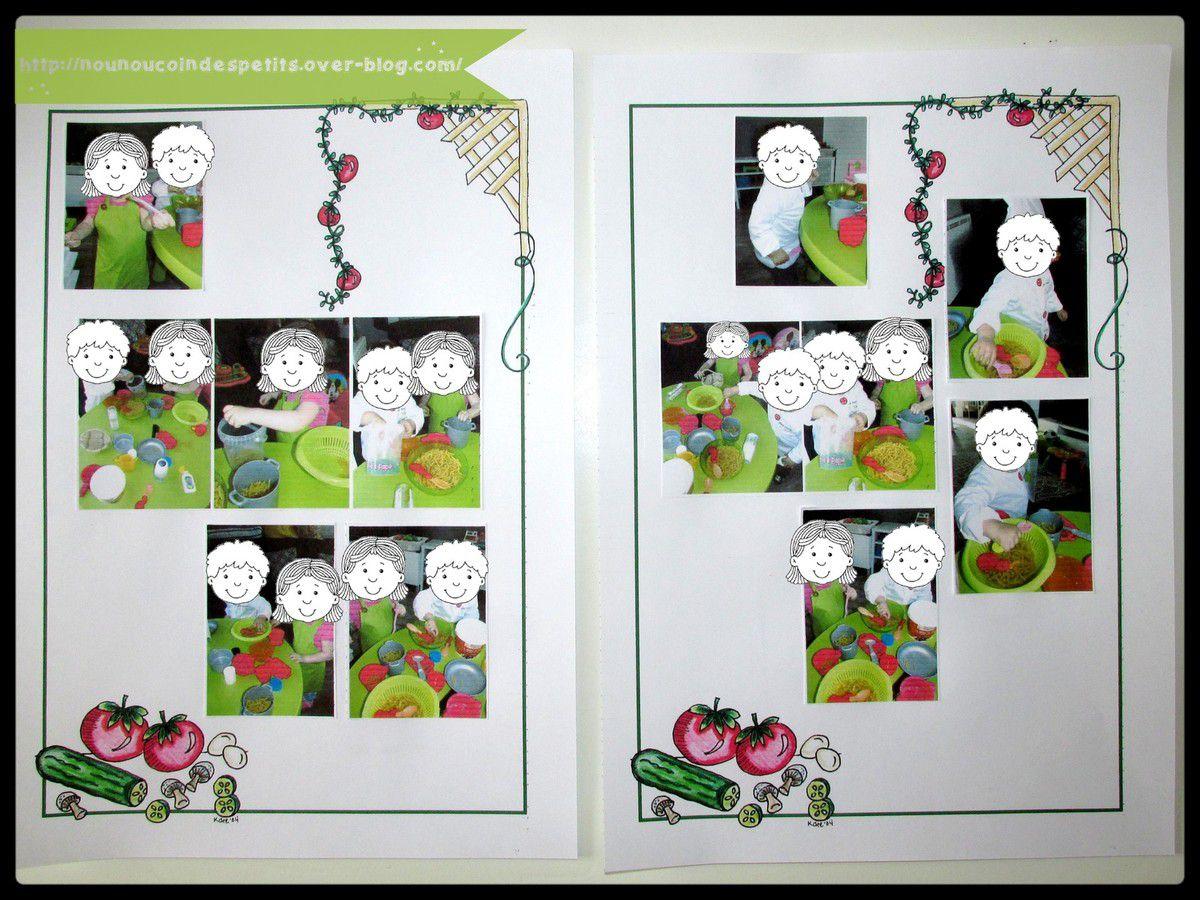 .. fiche collage photos cahier de vie ..