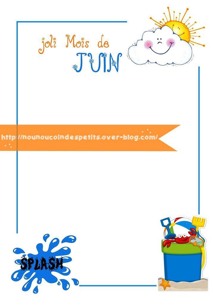 .. Cadre collage photo &quot&#x3B; joli mois de juin &quot&#x3B;