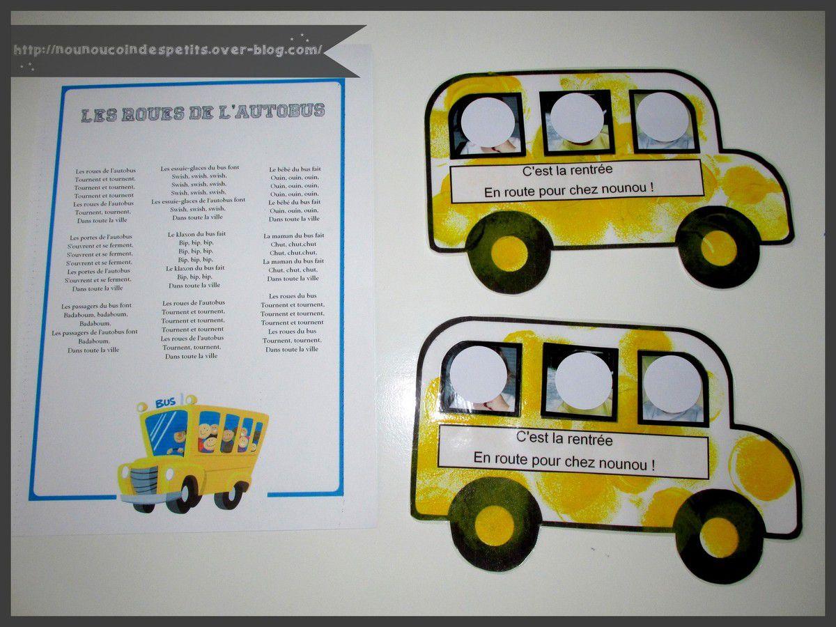 .. Autobus + comptine &quot&#x3B; les roues de l'autobus &quot&#x3B; ..