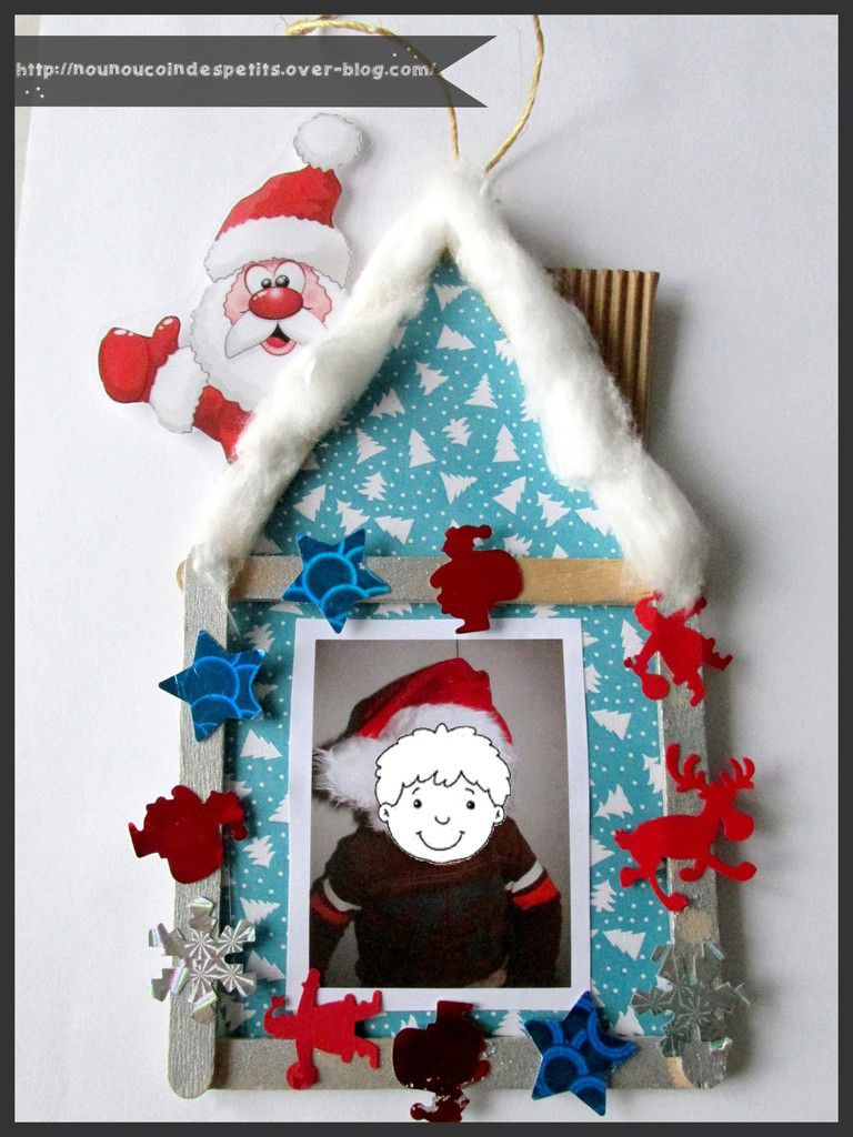 Cadre photo maison de noel d co de sapin le blog de nounoucoindespetits for Photos de decoration