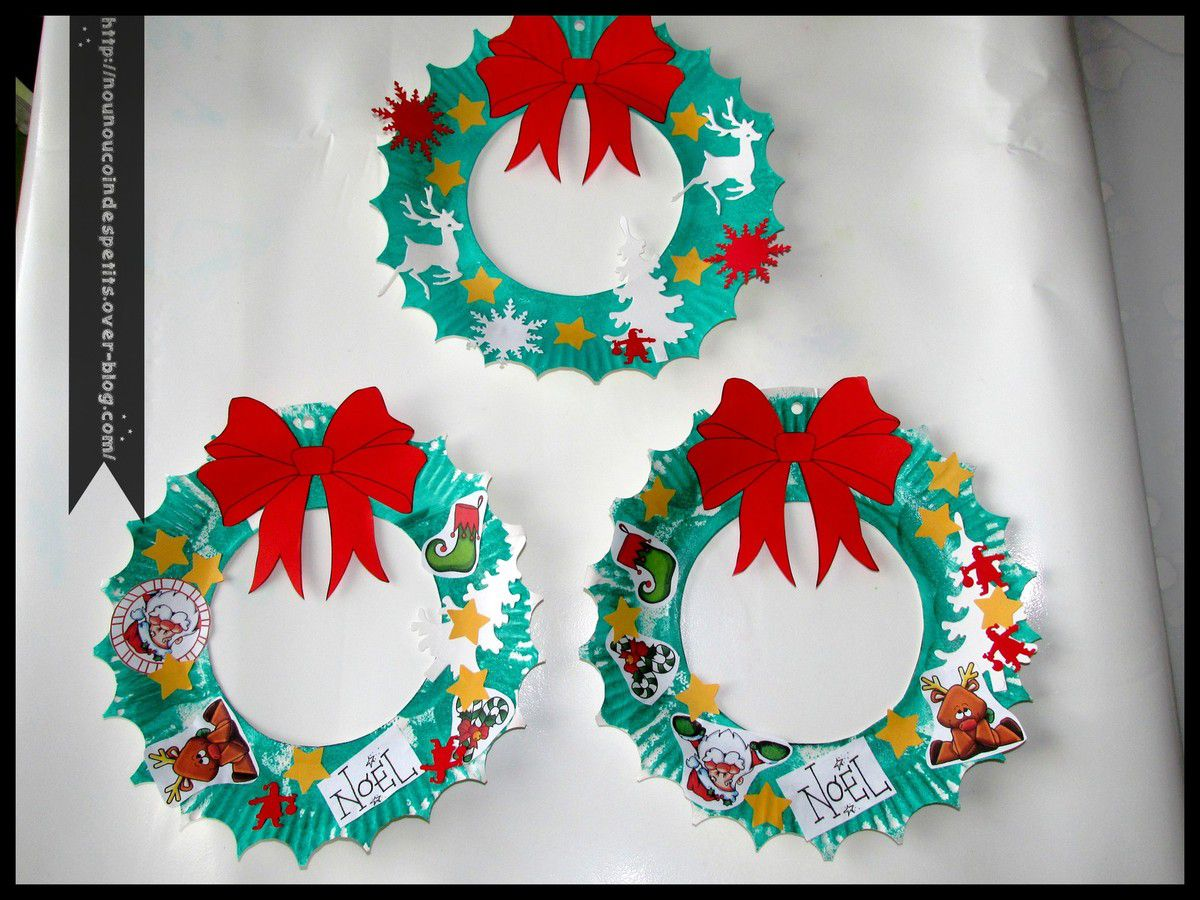 Couronne de noel le blog de nounoucoindespetits - Creation couronne de noel ...