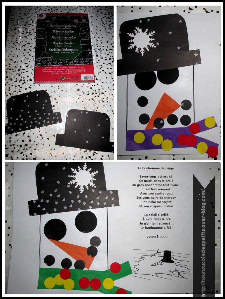 .. Bonhomme de neige ( collage ) ..