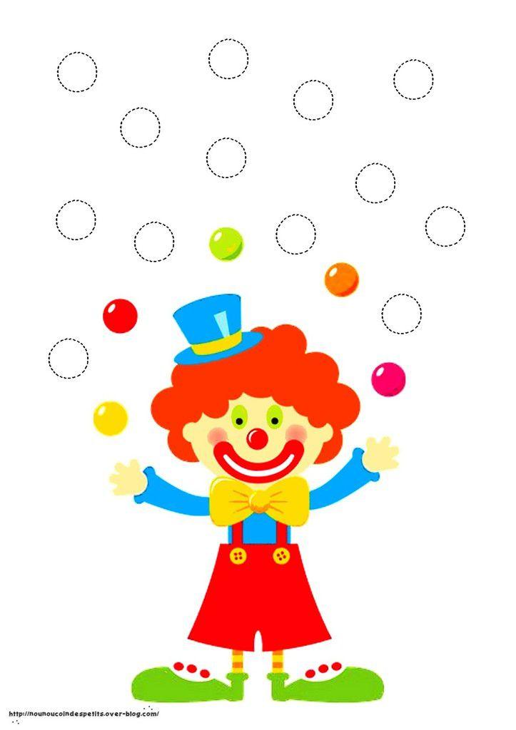 .. Tableau du clown jongleur cadre en playmais ..