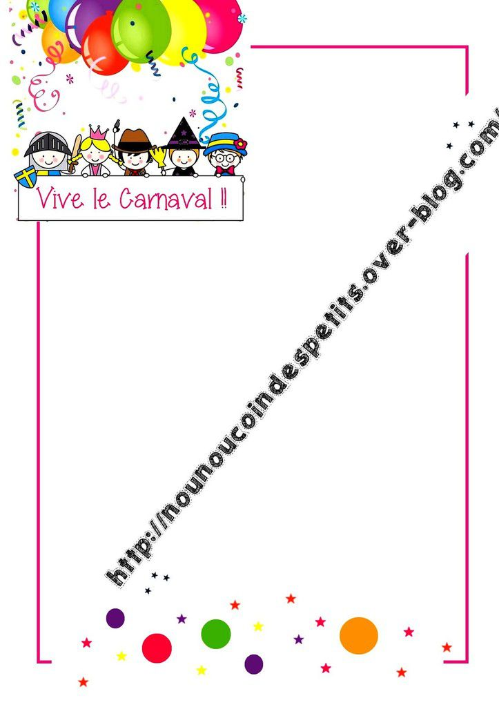 .. Fiche collage photo &quot&#x3B; Vive le carnaval &quot&#x3B; cahier de vie ..