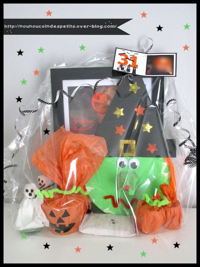 .. Cadre photo Halloween + étiquette emballage cadeau ..