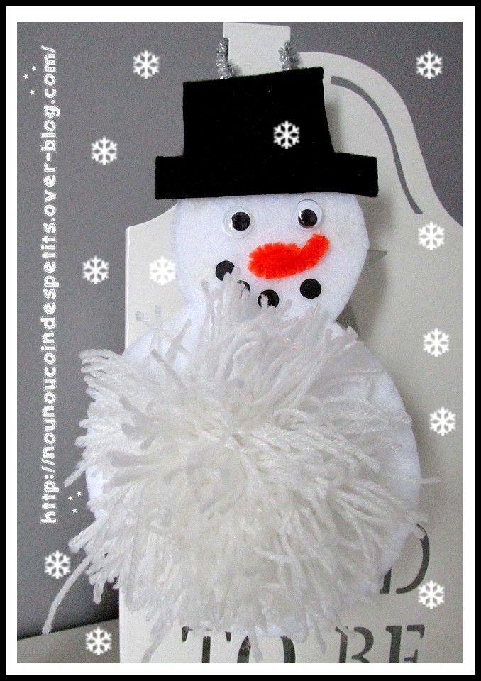 même bonhomme de neige mais en feutrine