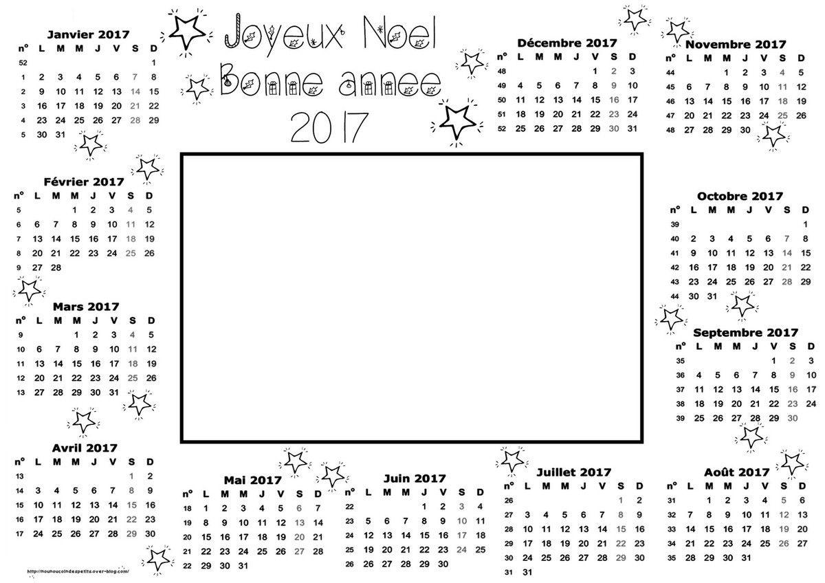 .. Calendrier 2017 &quot&#x3B; JOYEUX NOEL .. BONNE ANNEE &quot&#x3B; ..