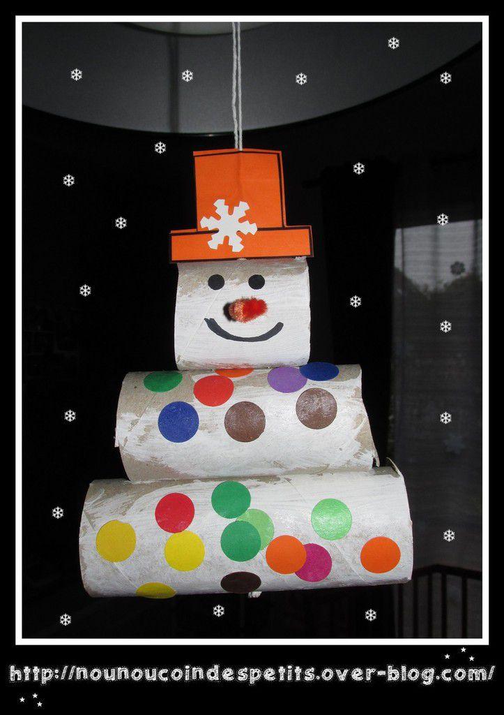 .. Mobile bonhomme de neige ..