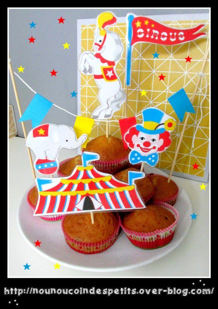.. Déco pour Pâtisserie thème cirque Mardi gras ..