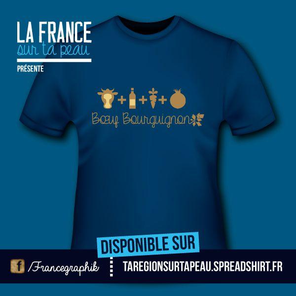 Boeuf bourguignon - disponible en T-shirt, débardeur, sweatshirt, casquette, mug, tasse, sac, bag, badge, body, etc...