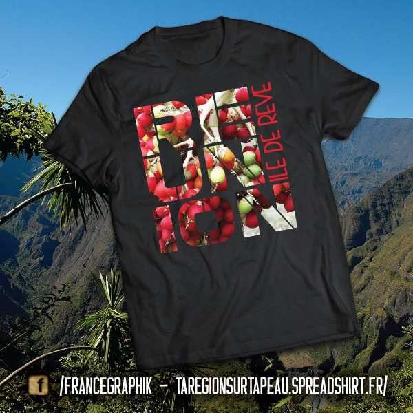 La Réunion sur ta peau - disponible en T-shirt, débardeur, sweatshirt, casquette, mug, tasse, sac, bag, badge, body, etc...