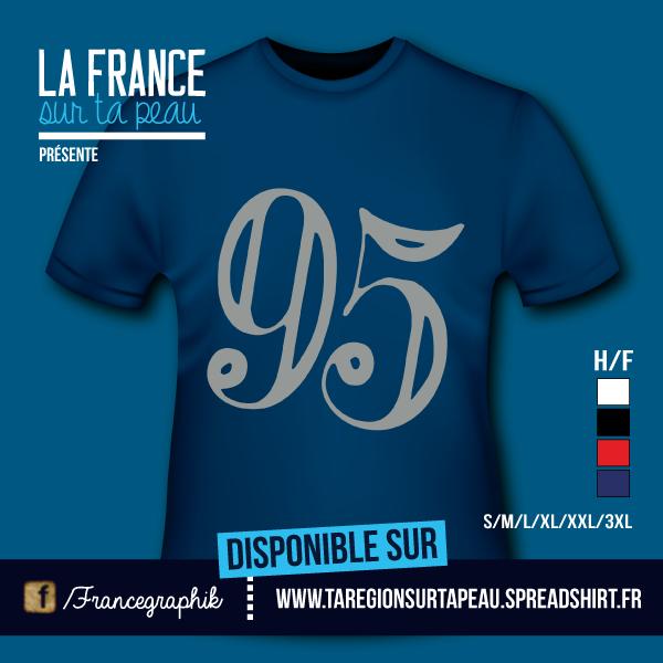 Val d'Oise - Département 95 - disponible en T-shirt, débardeur, sweatshirt, casquette, mug, tasse, sac, bag, badge, body, etc...
