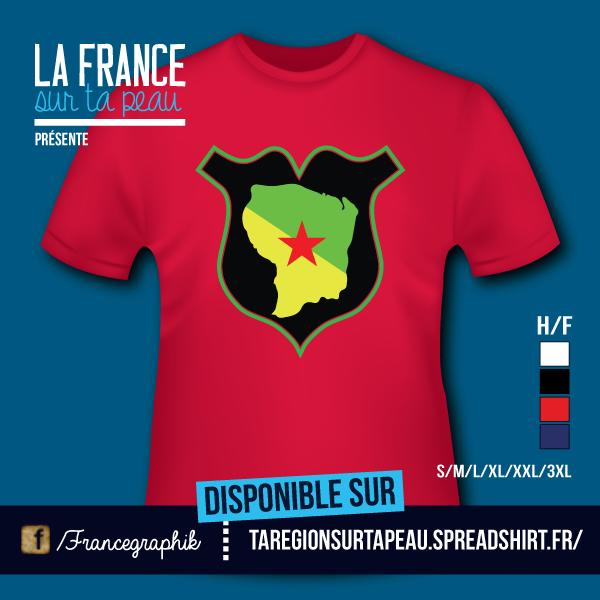 Guyane - Badge/Ecusson - disponible en T-shirt, débardeur, sweatshirt, casquette, mug, tasse, sac, bag, badge, body, etc...