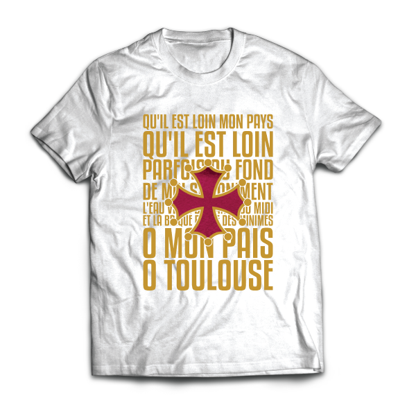 Ô mon Païs - Toulouse - disponible en T-shirt, débardeur, sweatshirt, casquette, mug, tasse, sac, bag, badge, body, etc...