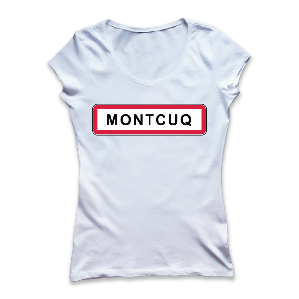 Montcuq - Ville - disponible en T-shirt, débardeur, sweatshirt, casquette, mug, tasse, sac, bag, badge, body, etc...