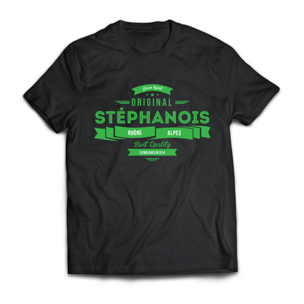 Original Stéphanois - disponible en T-shirt, débardeur, sweatshirt, casquette, mug, tasse, sac, bag, badge, body, etc...