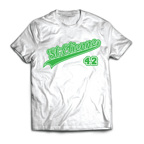 T-shirt Saint-Etienne - Ville - 42 - disponible en T-shirt, débardeur, sweatshirt, casquette, mug, tasse, sac, bag, badge, body, etc...