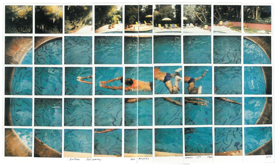 Nathan Swimming Los Angeles - © David Hockney