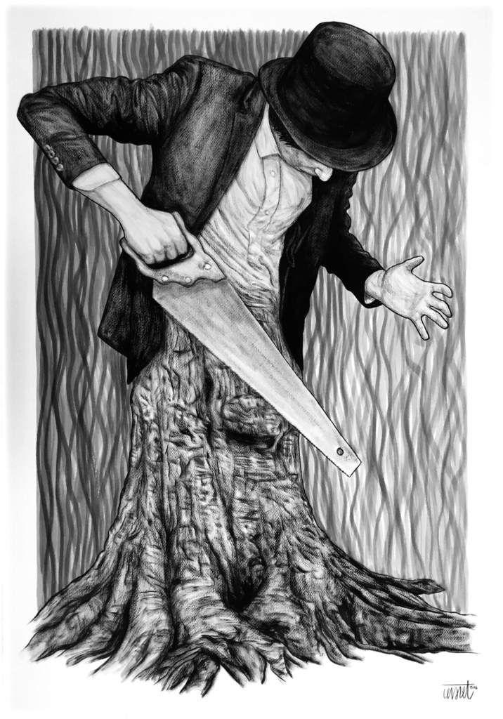 L'homme-tronc - © Levalet