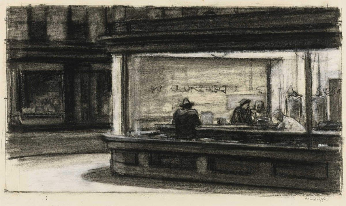 Study for Nighthawks - © Edward Hopper