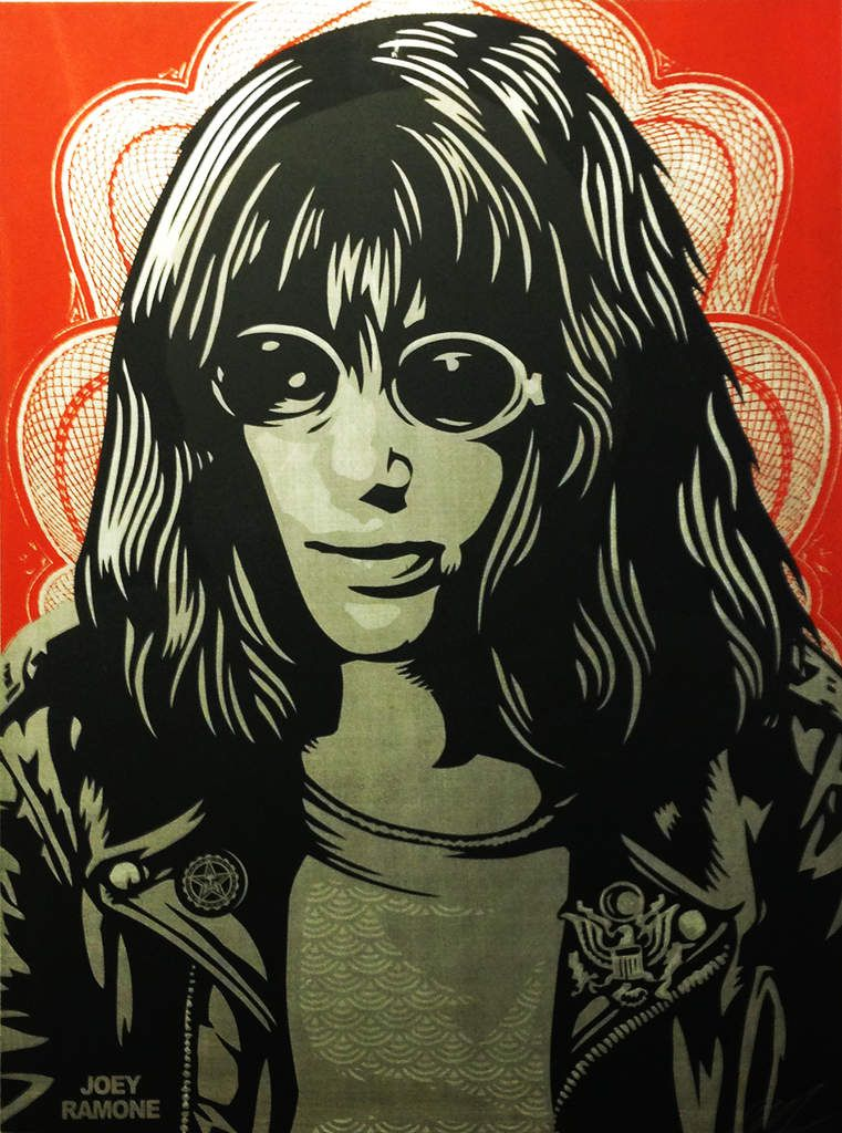 Doves (black) / Station to station / Joey Ramone - © Shepard Fairey