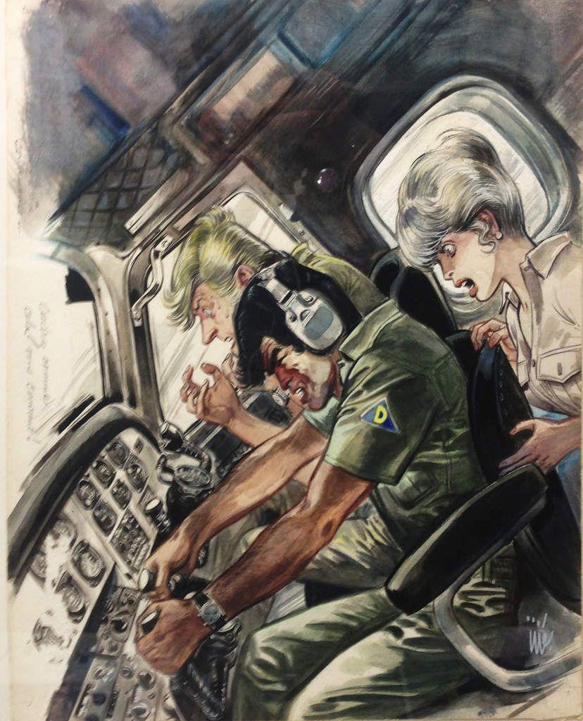 L'illustration de la Mystérieuse Escadre Delta est à vendre, par Jijé