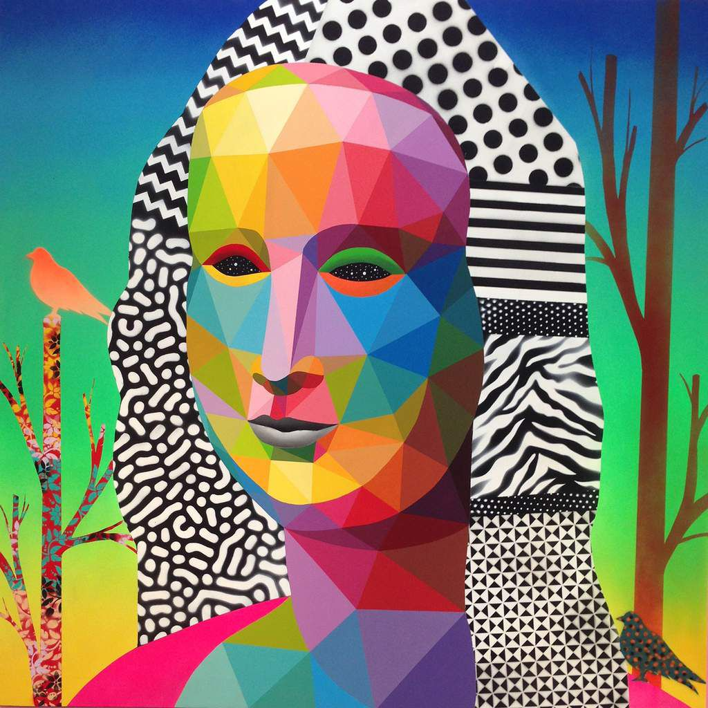 Mona Lisa looking at the future - © Okuda