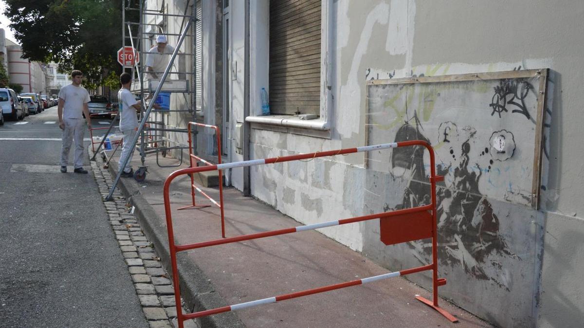 Un Banksy fait naufrage à Calais