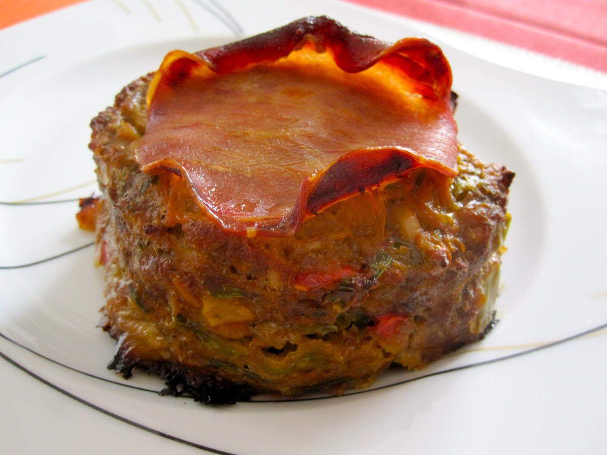 Petits pains de viande aux légumes/coeur coulant crème de gruyère