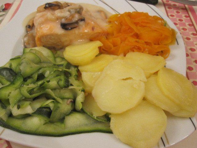 Saumon à la sauce dieppoise au thermomix (ou cook expert de magimix )