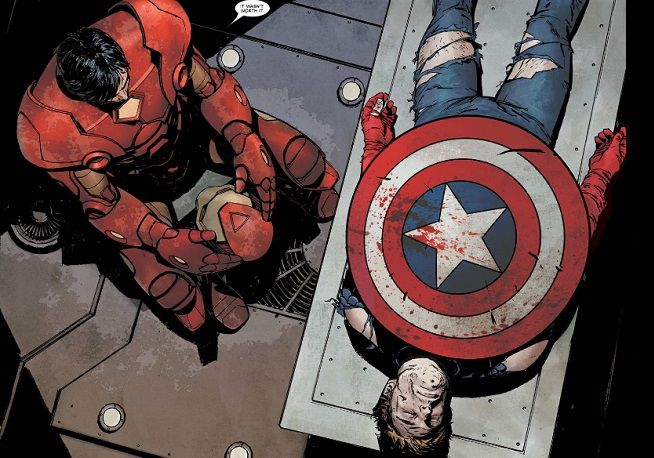La mort de Captain America lors de son estractions.
