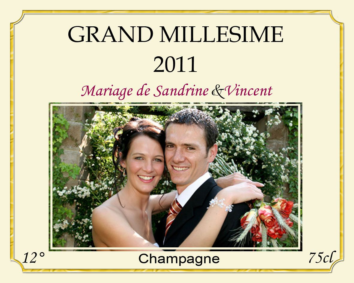 ebm018 - Tiquette Personnalise Champagne Mariage