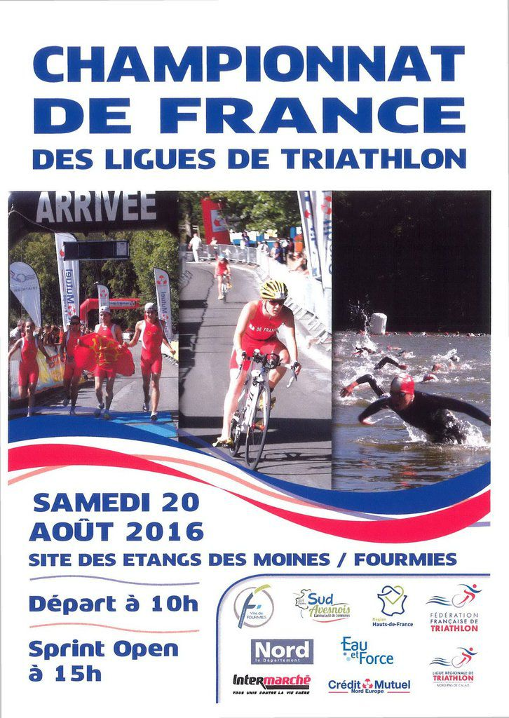 SPRINT OPEN DE FOURMIES + FRANCE DES LIGUES REGIONALES DE TRIATHLON