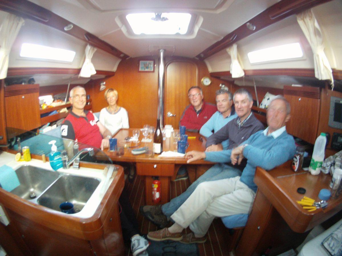 De gauche à droite : Graham, Françoise, Jacques, Hervé, Tim et Roy