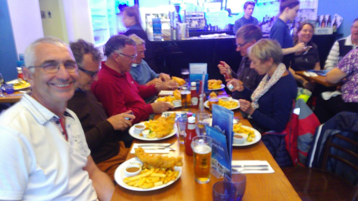 Traditionnel fish and chips à Brixham