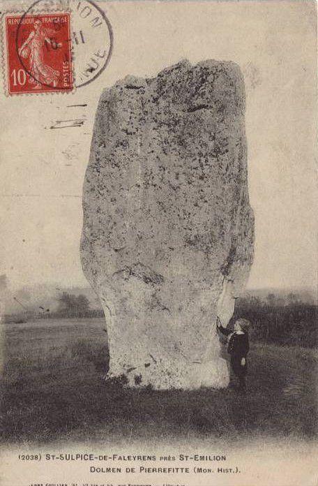 Menhir de Peyrefitte ou Pierrefitte ou Petra Fixa, Saint Sulpice de Faleyrens