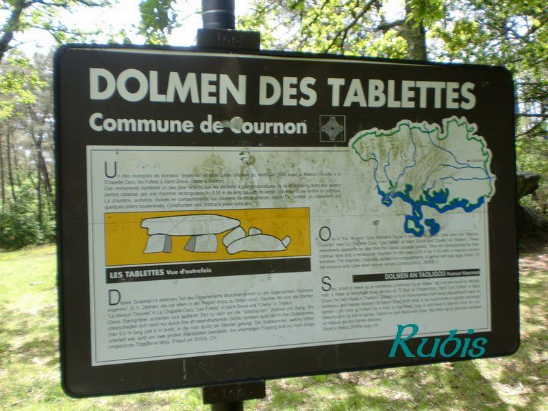 Dolmen des Tablettes, Cournon
