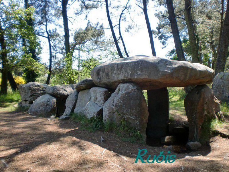 Dolmens de Mané Kerioned ou grotte de Grionnec ou Butte aux Nains, Carnac