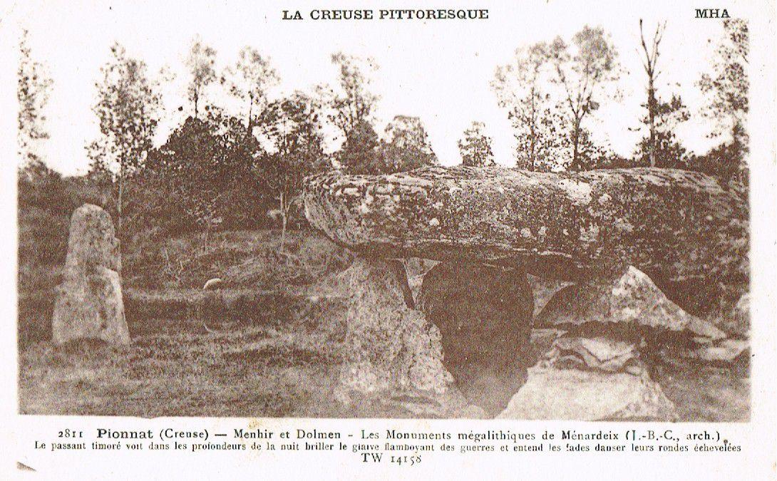 Dolmen de la Pierre Fade ou de Ménardeix, Pionnat