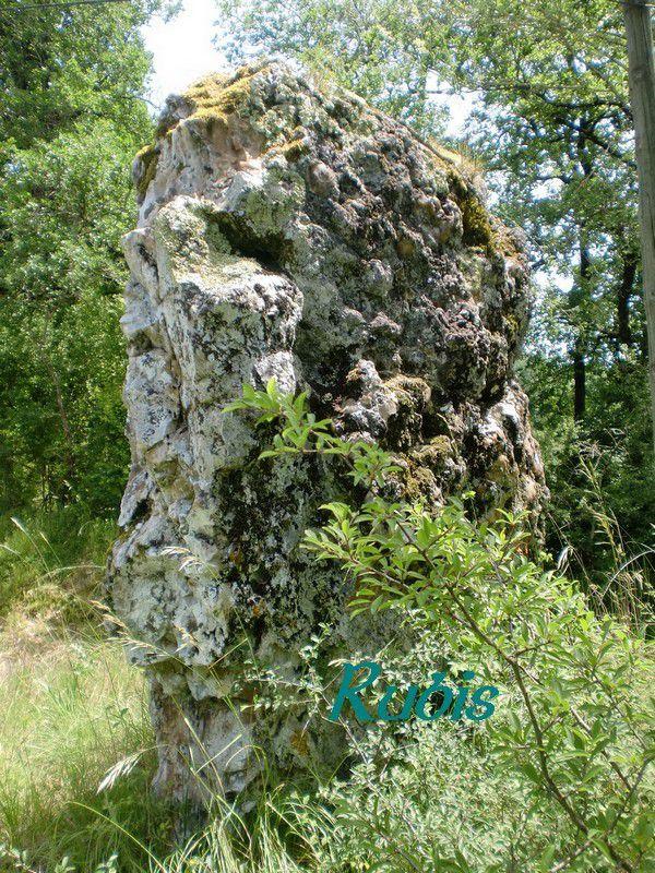 Menhir du Caillou ou de Mongera ou de Montgermat ou de Monjerma ou de la Rozière, Boisse